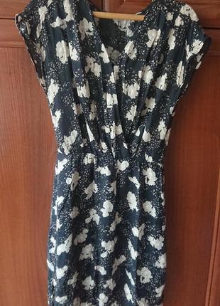 Суперское летнее платье edc by esprit, легкое платье из вискозы