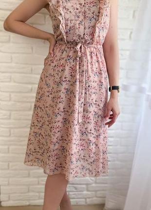 Нежное, нарядное шифоновое платье!!