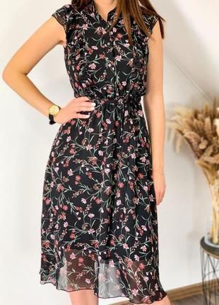 Платье миди. шифон + вискоза!!