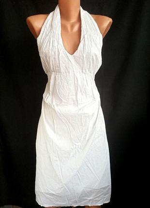 Распродажа! воздушный лёгкий белоснежный сарафан, платье с открытой спиной