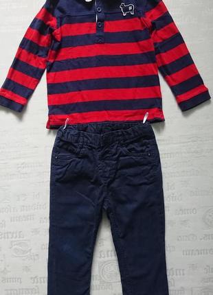 Суперский костюм casual, джинсы c&a + кофточка benetton, 18-24мес