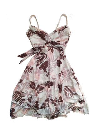 Сарафан / платье на тонких бретелях / с поясом / винтаж / сукня