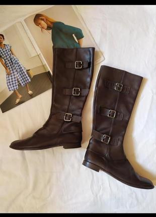 Кожаные сапоги 36-36,5 размер шкіряні