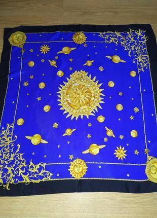 Роскошный винтажный платок из натурального шелка