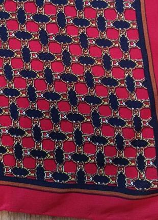 Маленький шелковый платок на шею на сумку гаврош бандана