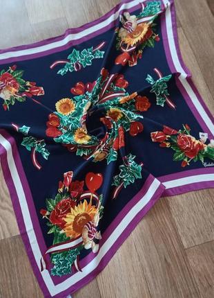 Codello винтажный шелковый платок