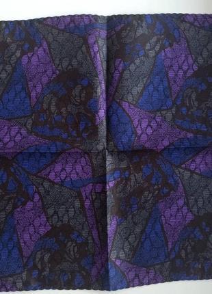 Винтажный шелковый носовой платочек2 фото
