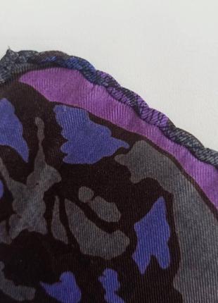 Винтажный шелковый носовой платочек4 фото