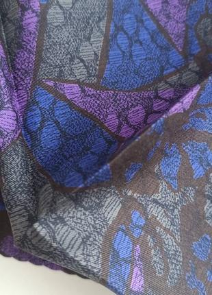 Винтажный шелковый носовой платочек3 фото