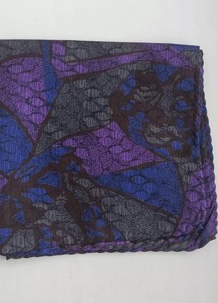 Винтажный шелковый носовой платочек1 фото