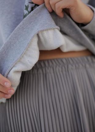 Базовая серая юбка миди4 фото