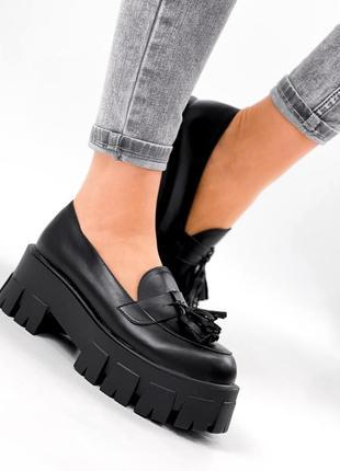 Туфли броги кожа