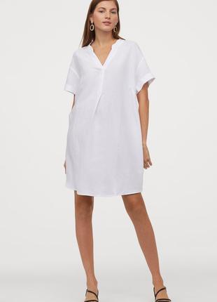 Новое платье, туника h&m, лен + вискоза