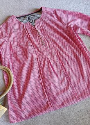 Натуральная хлопковая блуза большой размер батал