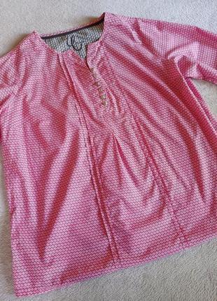 Натуральная хлопковая блуза большой размер батал2 фото