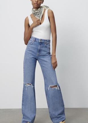 Нові джинси wide leg від zara