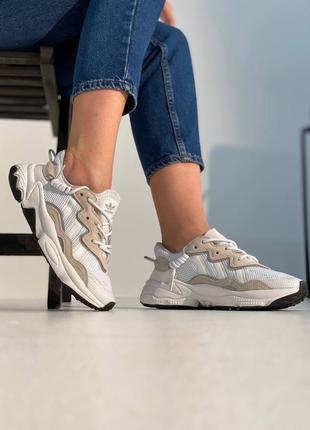 Кроссовки адидас женские озвего рефлективные adidas ozweego white reflective
