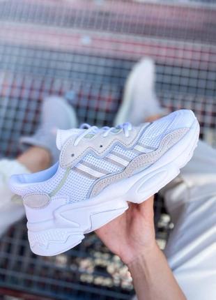 Кроссовки адидас adidas ozweego женские озвего обувь взуття кеды рефлективные white reflective