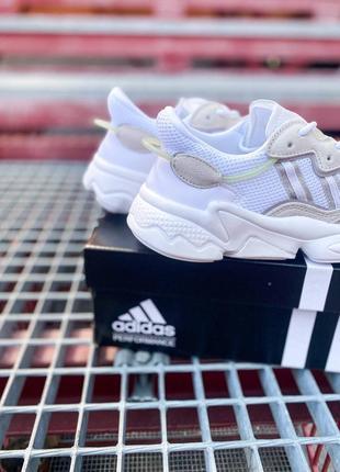 Кроссовки адидас adidas ozweego женские озвего обувь взуття кеды рефлективные white reflective10 фото