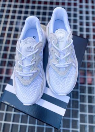 Кроссовки адидас adidas ozweego женские озвего обувь взуття кеды рефлективные white reflective4 фото
