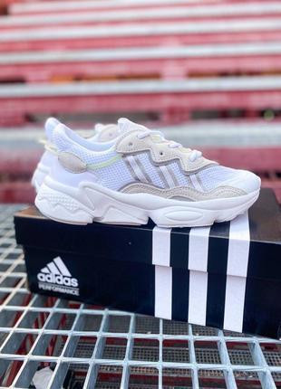 Кроссовки адидас adidas ozweego женские озвего обувь взуття кеды рефлективные white reflective7 фото