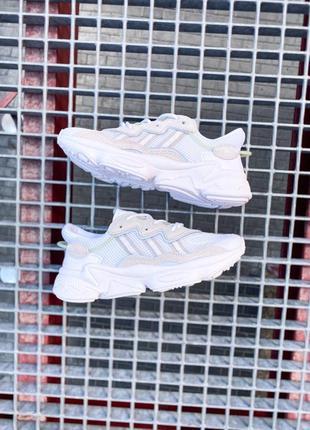 Кроссовки адидас adidas ozweego женские озвего обувь взуття кеды рефлективные white reflective6 фото
