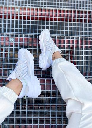 Кроссовки адидас adidas ozweego женские озвего обувь взуття кеды рефлективные white reflective2 фото