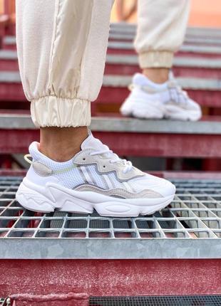 Кроссовки адидас adidas ozweego женские озвего обувь взуття кеды рефлективные white reflective8 фото