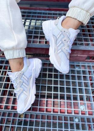 Кроссовки адидас adidas ozweego женские озвего обувь взуття кеды рефлективные white reflective5 фото