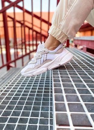Кроссовки адидас adidas ozweego женские озвего обувь взуття кеды рефлективные white reflective3 фото