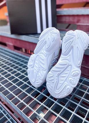 Кроссовки адидас adidas ozweego женские озвего обувь взуття кеды рефлективные white reflective9 фото