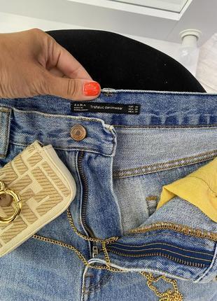 Крутые голубые джинсовые шорты zara4 фото