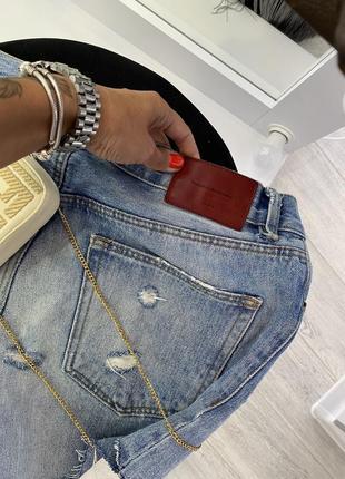 Крутые голубые джинсовые шорты zara5 фото