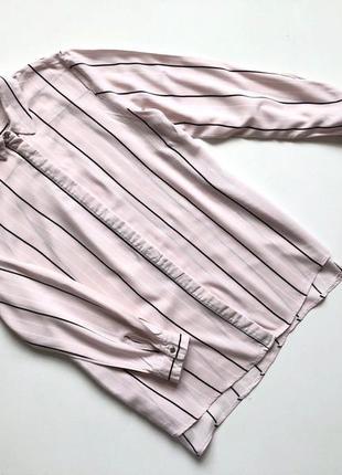 Нежно-розовая рубашка оверсайз new look  размер 10 (s-m)