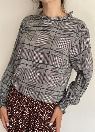 Акция! красивая блуза в клеточку от papaya