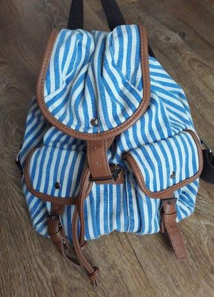Рюкзак из текстиля прогулочный летний дорожний грейсленд graceland летняя осенняя весенняя зимняя распродажа лот обмен женская коллекция