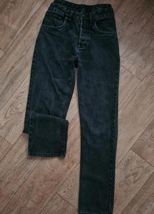 Плотные винтажные джинсы, джинси прямые, мом