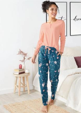 Женская пижама, домашний комплект деми хлопок  esmara германия р. 50-52