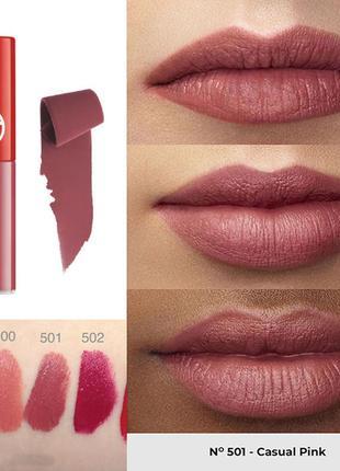 Жидкая матовая помада giorgio armani lip maestro 501 casual pink intense velvet 1.5 мл2 фото