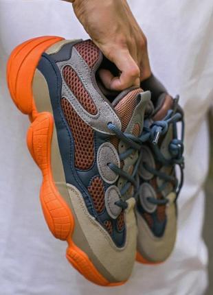 Мужские, женские кроссовки adidas yeezy 500 enflame2 фото