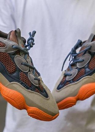 Мужские, женские кроссовки adidas yeezy 500 enflame3 фото