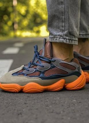 Мужские, женские кроссовки adidas yeezy 500 enflame4 фото