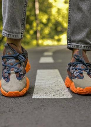 Мужские, женские кроссовки adidas yeezy 500 enflame6 фото