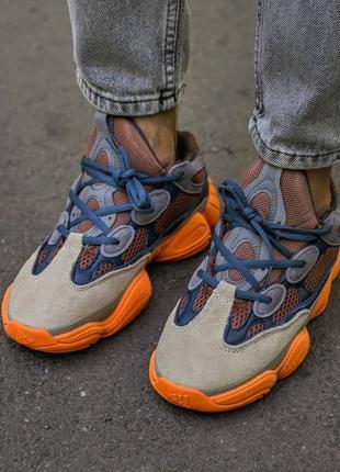 Мужские, женские кроссовки adidas yeezy 500 enflame5 фото