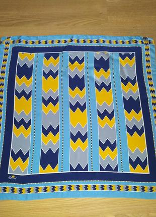 Шикарный итальянский платок из натурального шелка,шов роуль