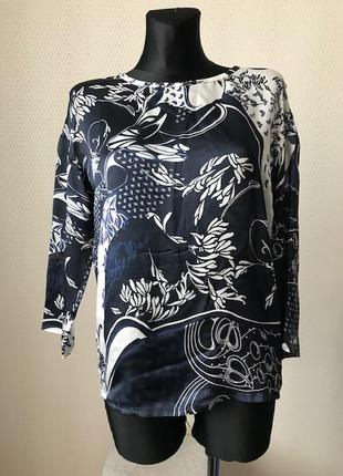 Шёлковая (100% шелк) блуза рукав 3/4 от дорогого бренда luisa cerano, размер 36, укр 42-44
