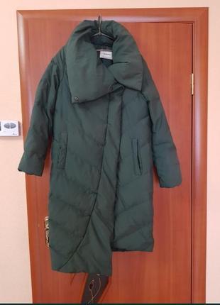 Зимний пуховик-пальто stradivarius