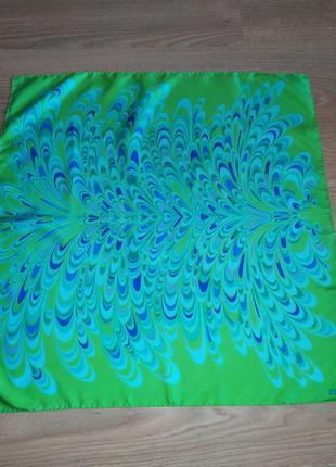 Fiorio винтажный подписной платок из натурального саржевого шелка