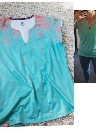 Шикарная спортивная футболка в бирюзовом/коралловом цветах,bidi badu, p. 40-42