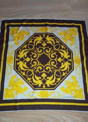 Прекрасный винтажный платок из натурального шелка